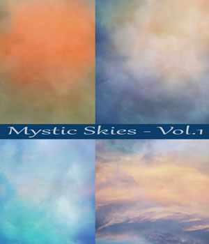 Mystic Skies Backgrounds 2D Graphics EllerslieArt