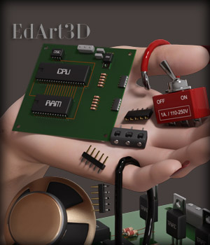 Electronic Mechanical Components 3D Models EdArt3D