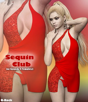 Sequin Club for Genesis 3 Females 3D Figure Assets B-Rock