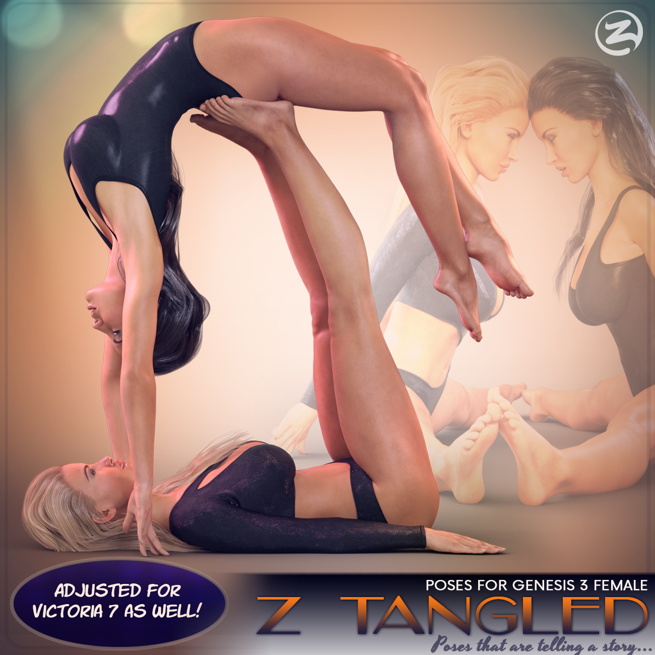 Z Tangled - Couple poses for Genesis 3 Female & Victoria 7