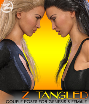 Z Tangled - Couple poses for Genesis 3 Female & Victoria 7 3D Figure Assets Zeddicuss