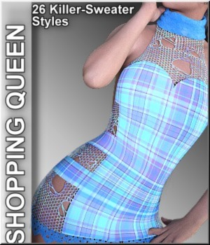 Shopping Queen: for Killer Sweater G3F 3D Figure Assets LUNA3D