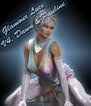 Glamour Lace For V4, Dawn And  Pauline 3D Figure Assets Sshodan