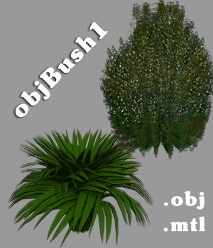 objBush1 - Extended Licence 3D Game Models : OBJ : FBX 3D Models Extended Licenses greenpots