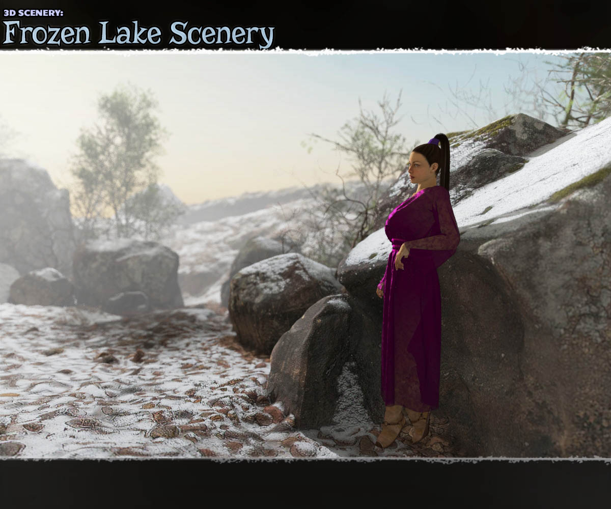 3D Scenery: Frozen Lake Scenery - Extended License by ShaaraMuse3D