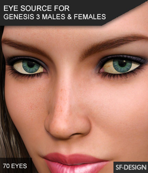 Eye Source - Eyes Presets for Genesis 3 Males and Females 3D Figure Assets SF-Design