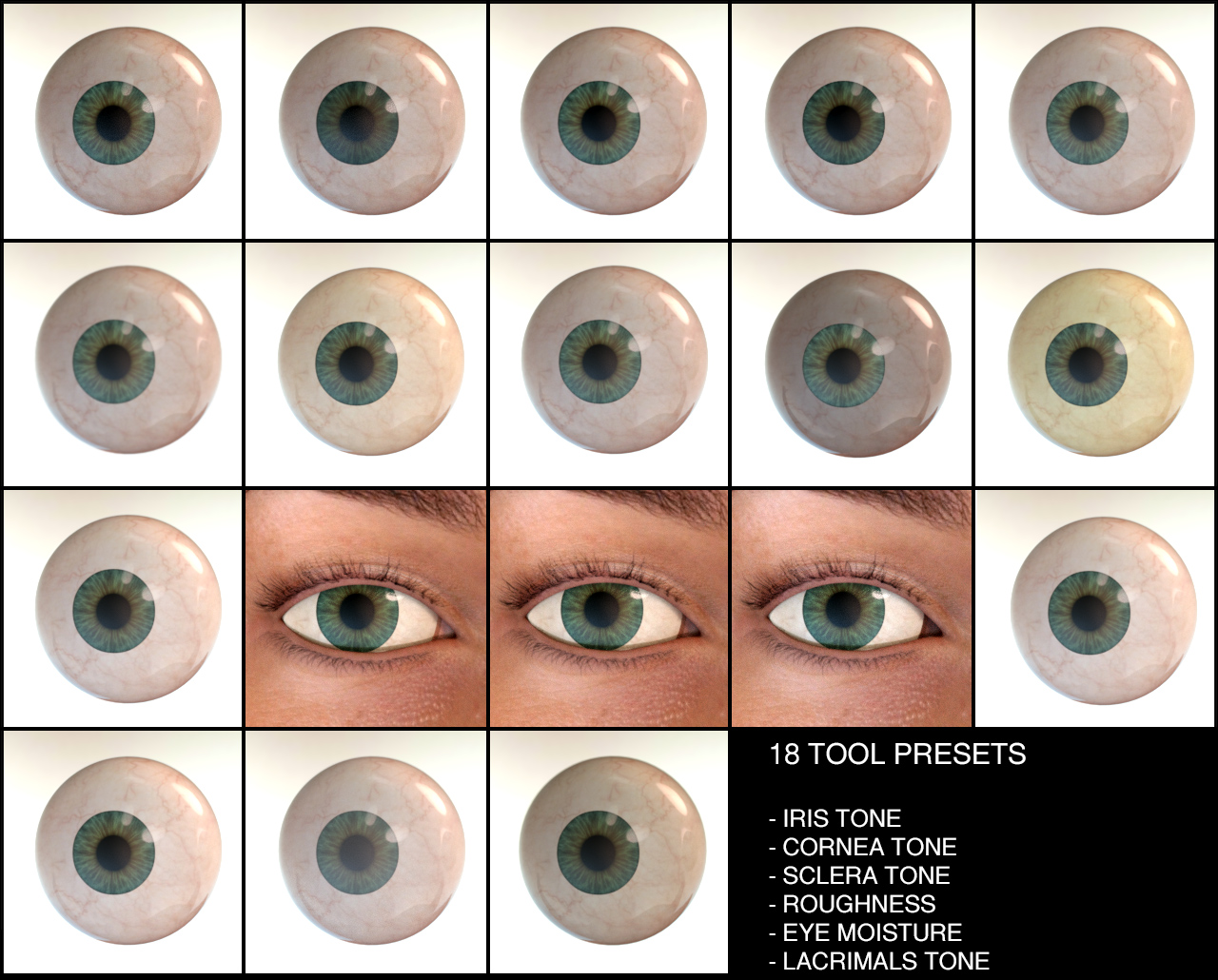 Eye Source - Eyes Presets for Genesis 3 Males and Females 3D