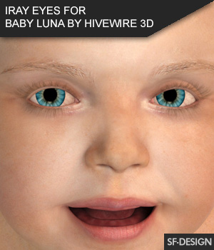 Iray Eyes for Baby Luna by Hivewire 3D 3D Figure Assets SF-Design