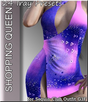 Shopping Queen: for Sequin Club 3D Figure Assets LUNA3D