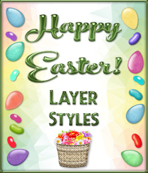Happy Easter! Layer Styles Mega Pack 2D Graphics Merchant Resources fractalartist01