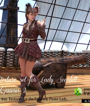 Lady Scarlett for Genesis 2 Texture Set 3D Figure Assets nelmi