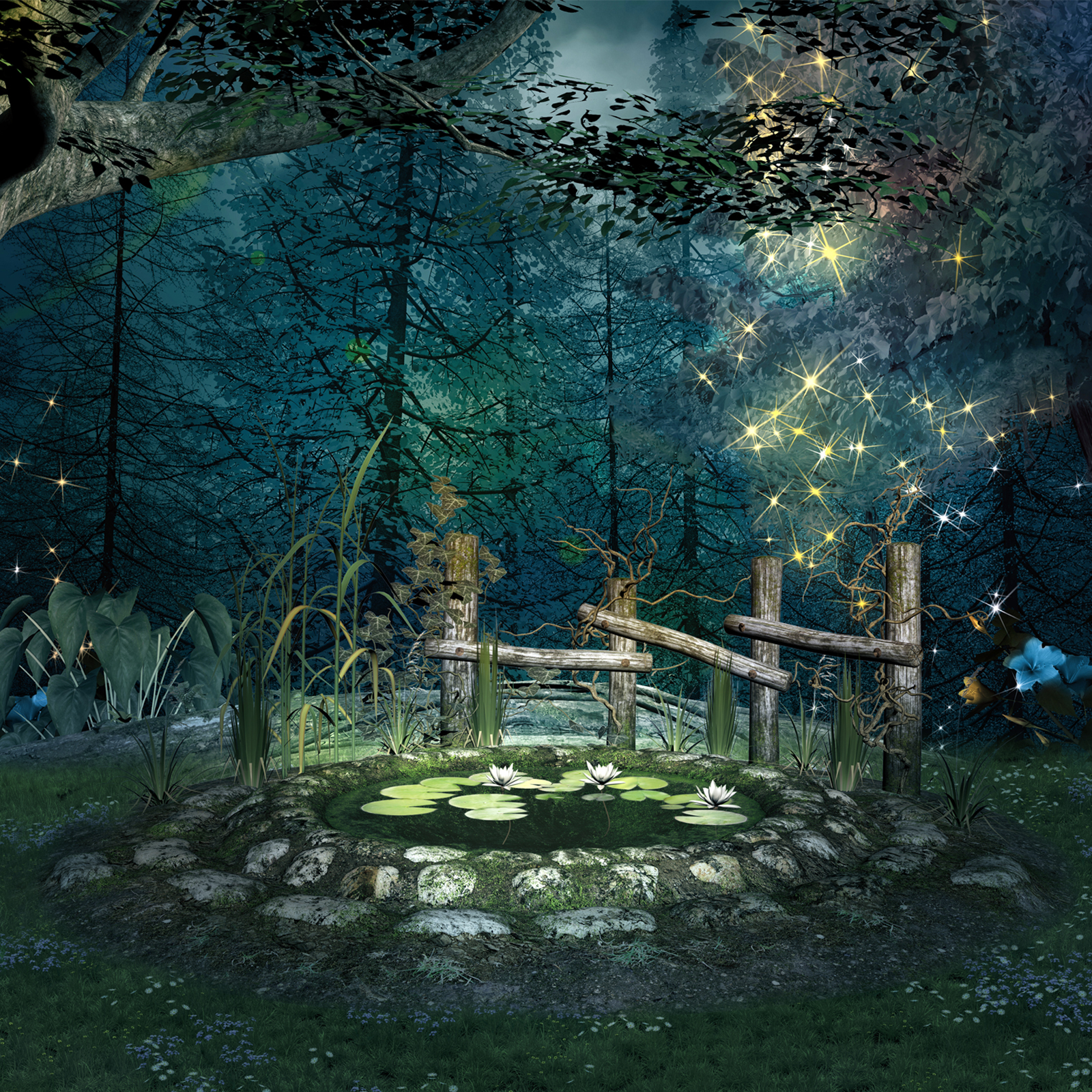 Enchanted Forest Backgrounds 2D Graphics EllerslieArt