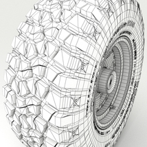 Off Road wheel and tire 3 - Extended License image 10