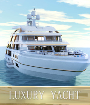 Luxury Yacht 3D Models TruForm