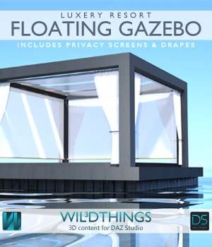 Floating Gazebo 3D Models wil3dthings