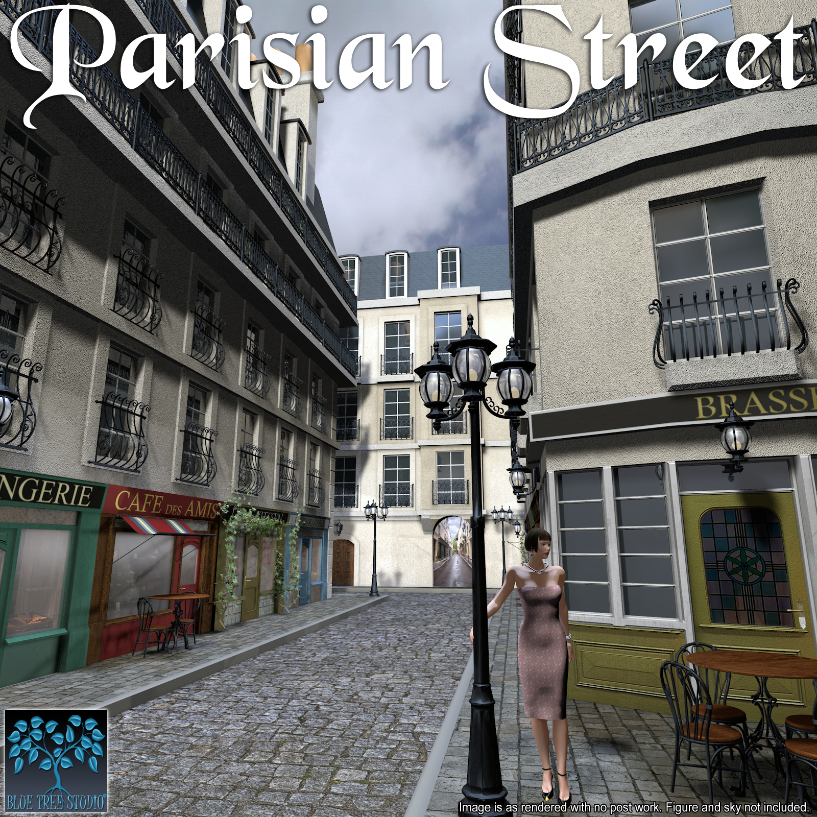Parisian Street by BlueTreeStudio