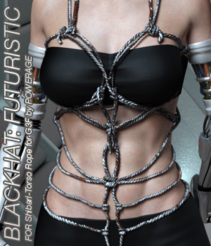 BLACKHAT:FUTURISTIC - Shibari - Torso Rope for G3 females 3D Figure Assets Anagord