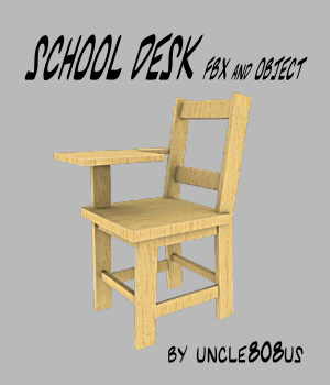 School Desk FBX_OBJ 3D Models uncle808us