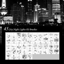 City Night Lights PS Brushes image 8