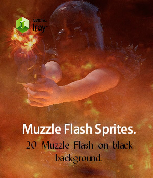 20 Muzzle Flash Sprites Merchant Resource 2D Graphics nelmi