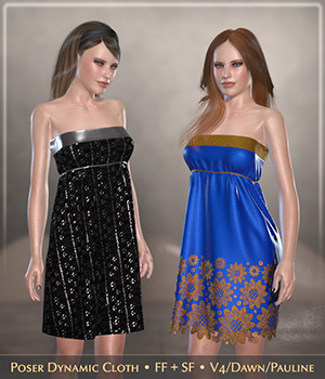 FRQ Dynamics: Minimal Cocktail Dress 3D Figure Assets Frequency