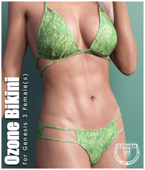 Ozone Bikini for Genesis 3 Females 3D Figure Assets outoftouch