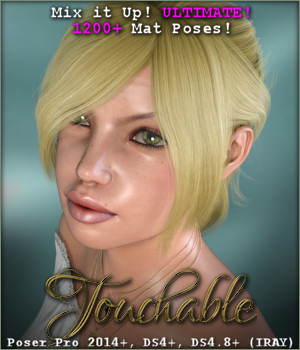 Touchable Top Model Updo 3D Figure Assets -Wolfie-