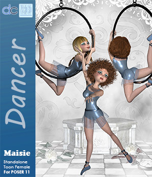Maisie Dancer Leotard, Skirt and Shoes 3D Figure Assets Deecey
