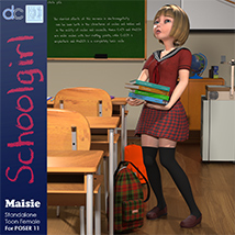 Maisie Schoolgirl Clothing and Hair image 1