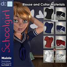 Maisie Schoolgirl Clothing and Hair image 3