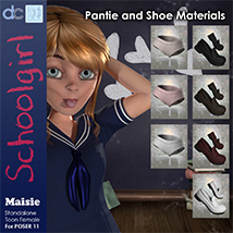 Maisie Schoolgirl Clothing and Hair image 4