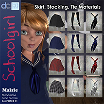 Maisie Schoolgirl Clothing and Hair image 5