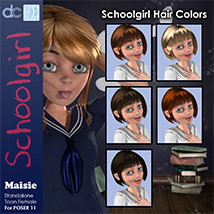 Maisie Schoolgirl Clothing and Hair image 6