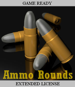 AMMO ROUNDS Collection - Extended License 3D Game Models : OBJ : FBX 3D Models Extended Licenses Winterbrose