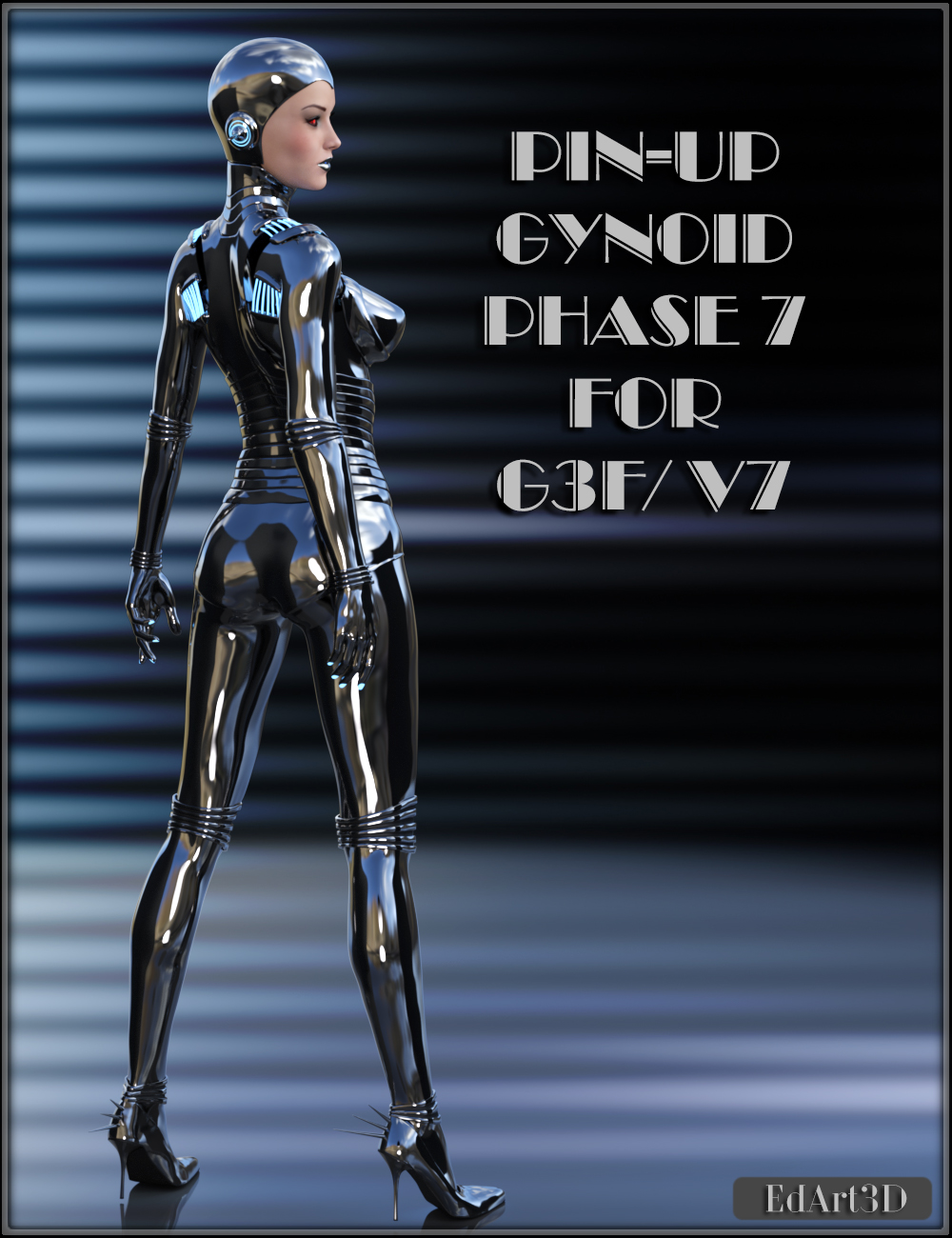 Pin-Up Gynoid Phase7 for G3F or V7 by EdArt3D