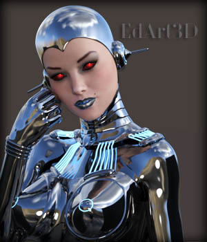 Pin-Up Gynoid Phase7 for G3F or V7 3D Figure Assets EdArt3D