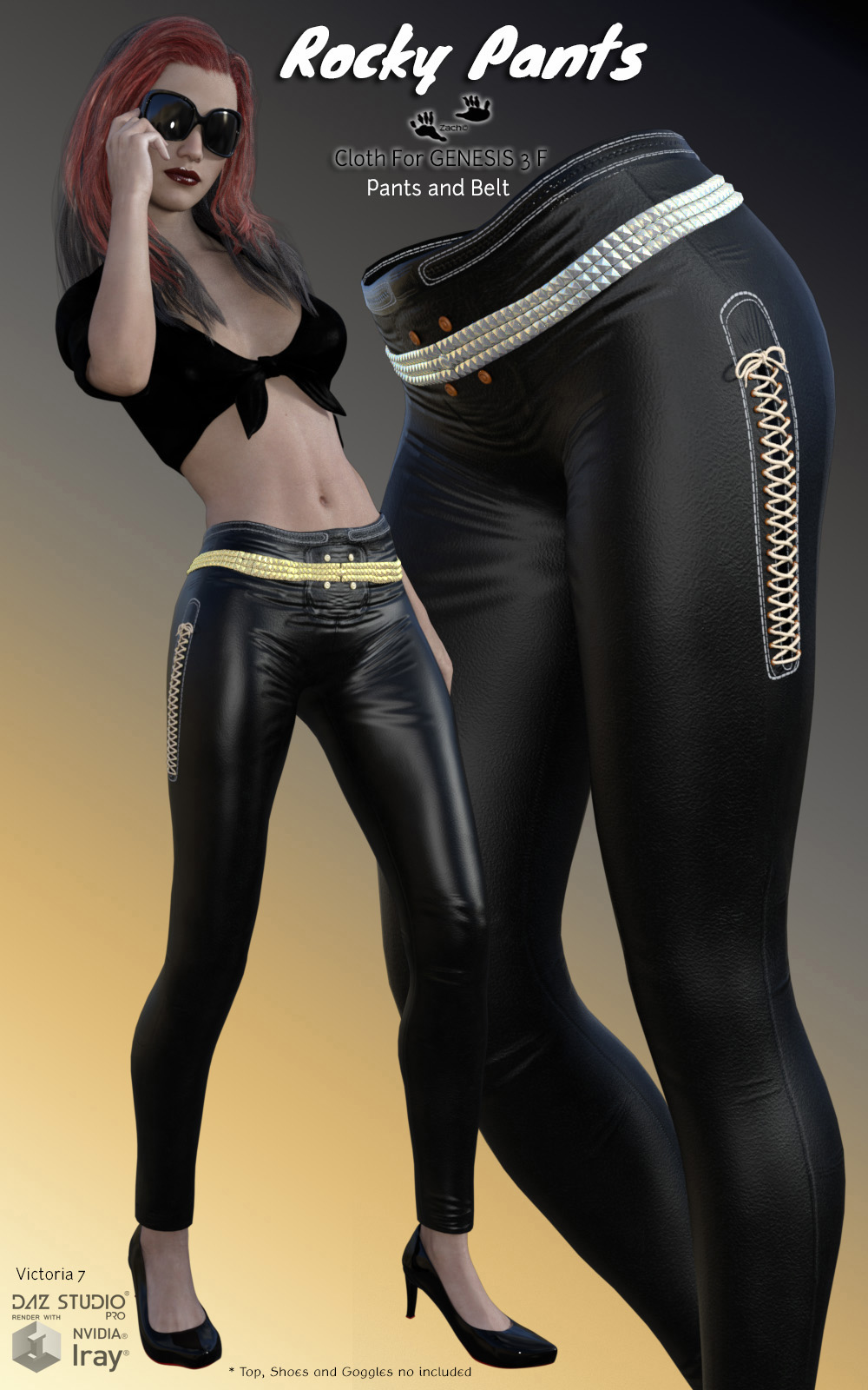 Rocky Pants for Genesis 3 Females