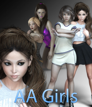 AA Girls for G3F 3D Figure Assets Anain