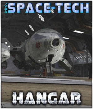 SpaceTech: Hangar 3D Models 3-d-c