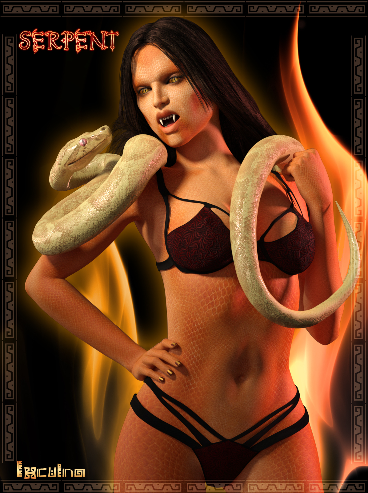 Ixcuina Serpent Addon for G3F