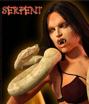 Ixcuina Serpent Addon for G3F 3D Figure Assets Sangriart