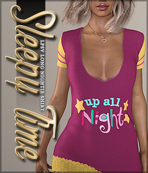 Sleepy Time for Long Nightie Shirt 3D Figure Assets Sveva
