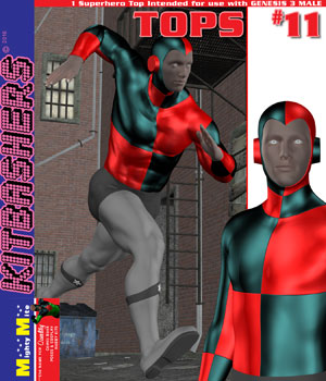 Kitbashers_Tops-011 -- By MightyMite for G3M 3D Figure Assets MightyMite