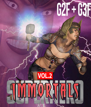 SuperHero Immortals for G2F &G3F Volume 2 3D Figure Assets GriffinFX