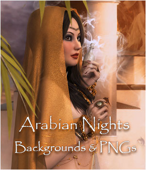 Arabian Nights Interactive Backgrounds 2D Graphics ellearden