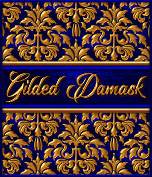 Gilded Damask Layer Styles 2D Graphics Merchant Resources fractalartist01