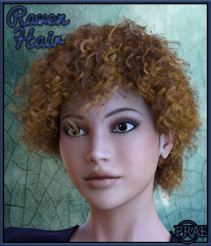 Prae-Raven Hair for Dawn and Dusk  3D Figure Assets prae