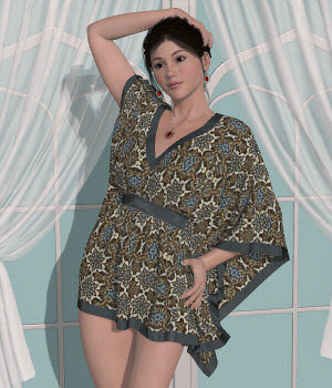 Dawns Dynamics-B-Kaftan  3D Figure Assets Lully
