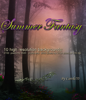 Summer Fantasy 2D Graphics Carole70