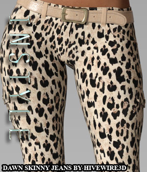 InStyle - Dawn Skinny Jeans 3D Figure Assets -Valkyrie-